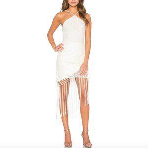 Tularosa The Napa Fringe Lace Dress in Off White